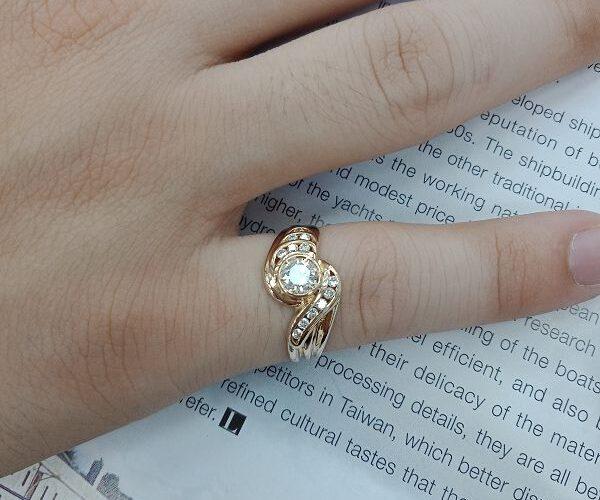 流當精品拍賣 流當鑽石 豪華 36分 F色 K金 女鑽戒 喜歡價可議 KS017