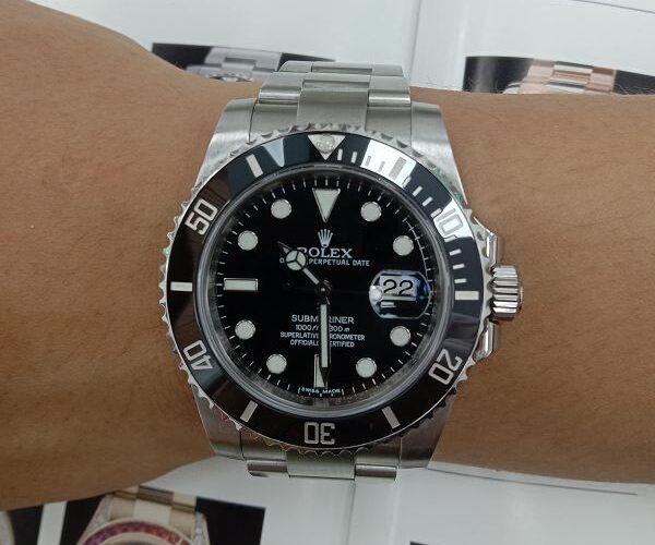 台中流當品拍賣 原裝 ROLEX 勞力士 116610 黑水鬼 自動 男錶 9成5新 喜歡價可議 ZR510