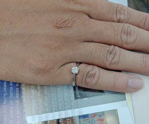 台中二手精品流當 流當鑽石 45分 H色 K金 鑽戒 特價出清 KS021